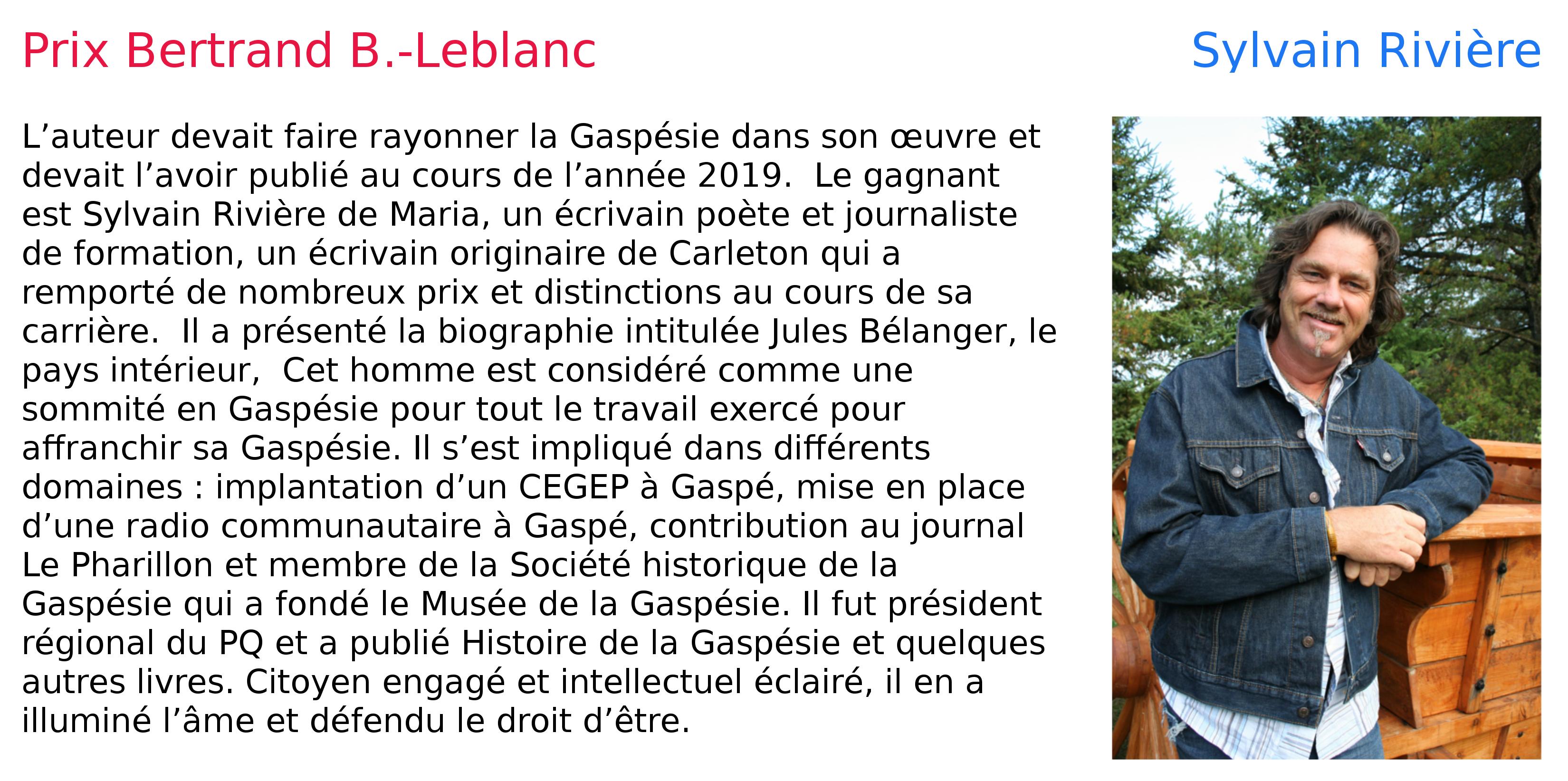 prix Bertrand B.-Leblanc