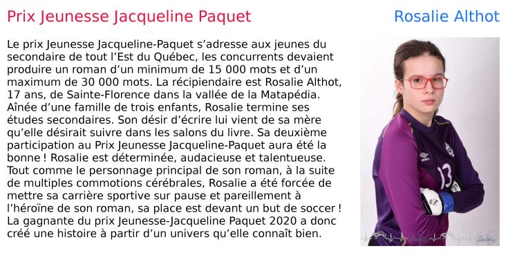 prix jeunesse Jacqueline Paquet